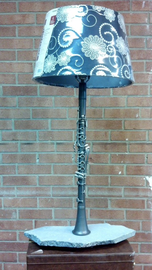 Gray Full Size Clarinet Lamp