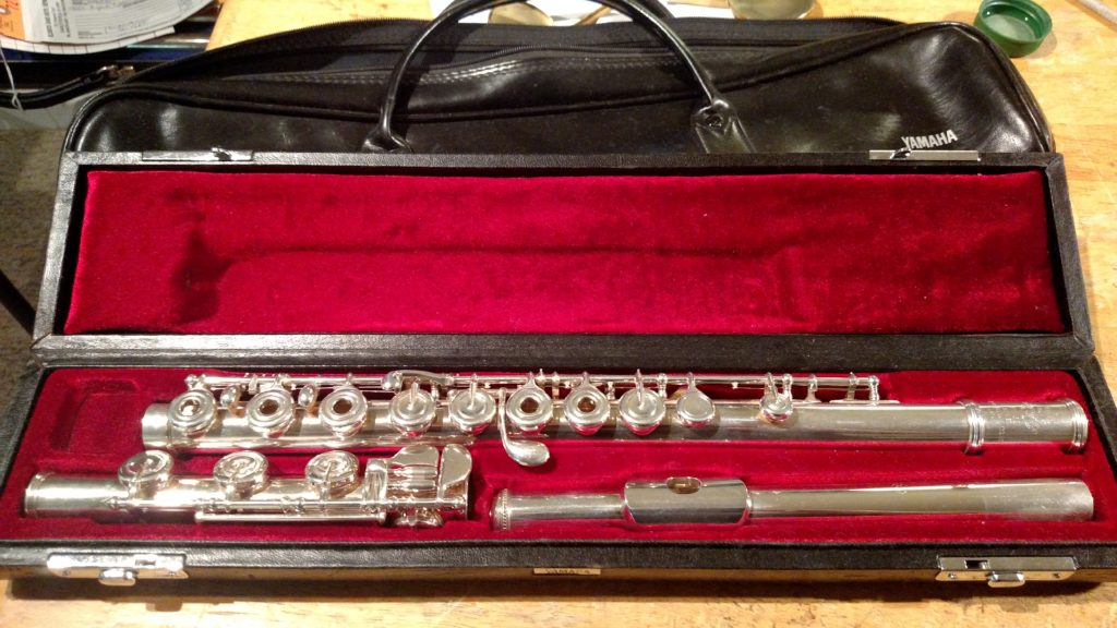 Yamaha yfl 581 flute sold elswick band instrument repair for Yamaha yfl225s flute sale