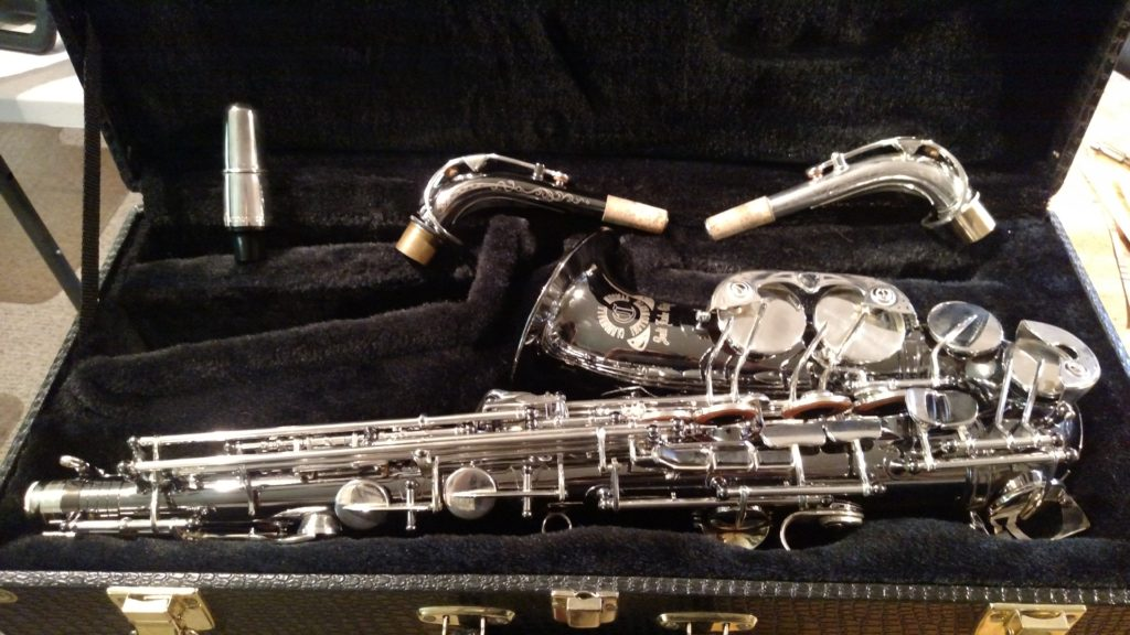 "Cannonball ""Stone Series, Big Bell"" Alto Saxophone, Black Nickel – SOLD"