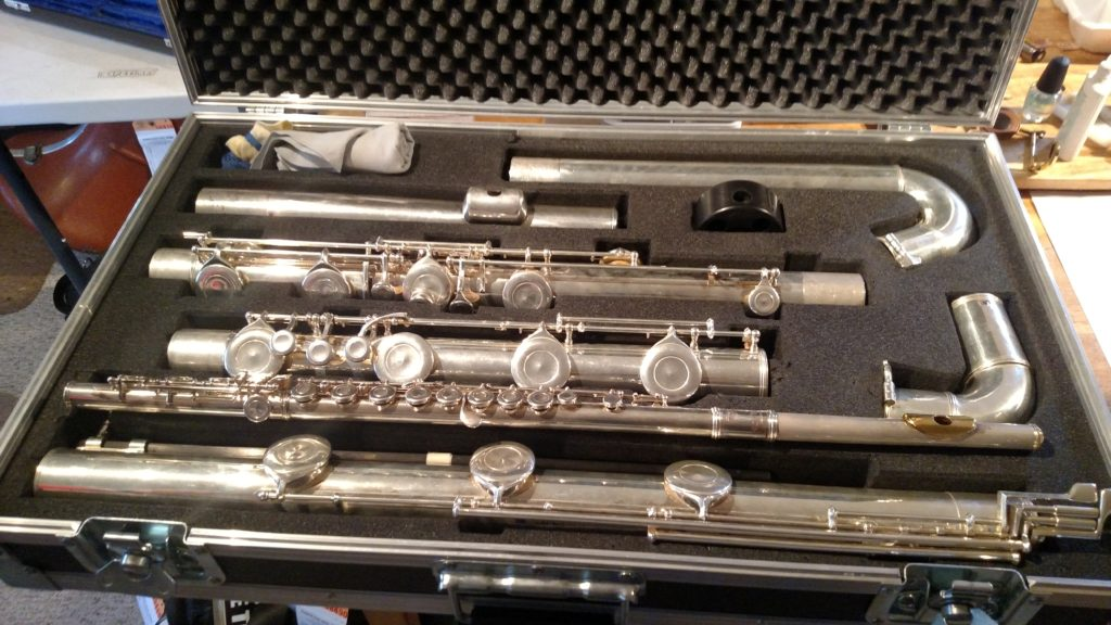 Contrabass Flute – Yes they do exist!!!! | Elswick Band ...  Double Contrabass Flute Case